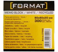Бумага для заметок 80х80, 300л, непроклеенная,Format,27992