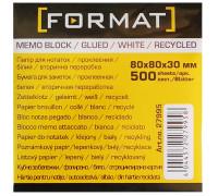 Бумага для заметок 80х80, 500л, проклеенная,Format,27995
