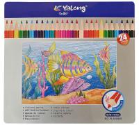 Карандаши цветные Yalong, 24цв.,YL-830046-24