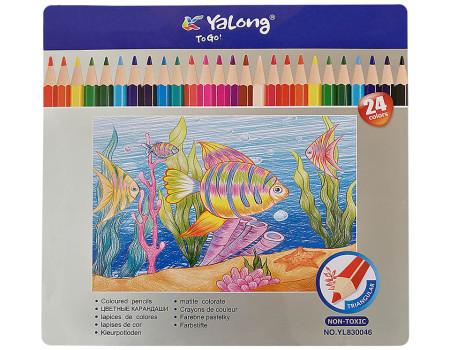Карандаши цветные Yalong, 24цв.