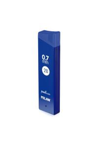 Грифели для мех.карандашей 12 х 0,7 2B, MILAN, 1851071424
