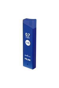 Грифели для мех.карандашей 12 х 0,7 HB, MILAN, 1851071524