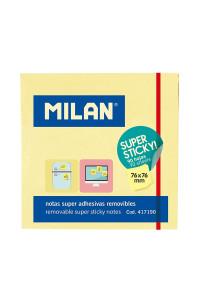 Бумага для заметок 76*76 Жёлтые, MILAN,  417190