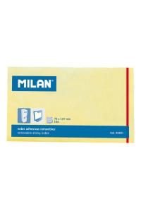 Бумага для заметок 127*76 мм светло-жёлтая , MILAN, 85501