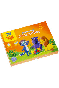 "Пластилин Мульти-Пульти, 08 цветов, 160г, ""Приключения Енота"",КП_10207"