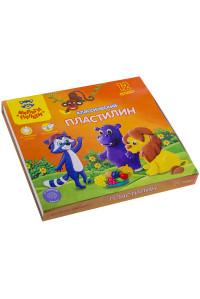 "Пластилин Мульти-Пульти 12 цветов, 240г,""Приключения Енота"",КП_10209"