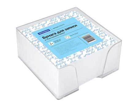 Блок для записи 9*9*4,5см, пластиковы бокс, бел