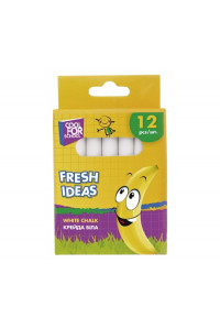 Мел школьный белый Fresh Ideas 12шт., coolforschool, 60701