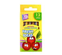 Мел восковой Fresh Ideas 12 цв, coolforschool ,60706