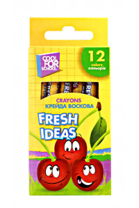 Мел восковой Fresh Ideas 12 цв, coolforschool ,60706