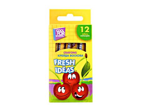Мел восковой Fresh Ideas 12 цв, coolforschool