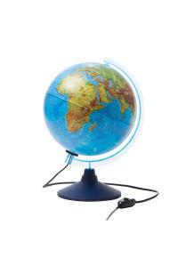 Глобус физико-политический Globen, 25см, с подсветкой на круглой подставке, Ке012500191