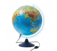 Глобус физико-политический рельефный Globen, 32см, с подсветкой на круглой подставке, Ке013200233