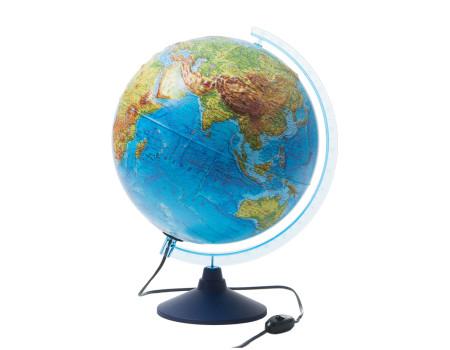 Глобус физико-политический рельефный Globen, 32см, с подсветкой на круглой подставке