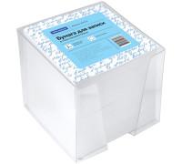 Блок для записи OfficeSpace, 9*9*9см, пластиковый бокс, белый, 159722