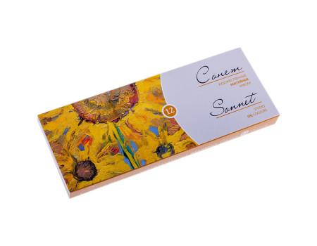 """Художественные масляные краски """"Сонет"""", 12 цветов,"""