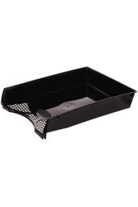 """Лоток для бумаг горизонтальный OfficeSpace """"Simple"""", чёрный, HT_34413"""