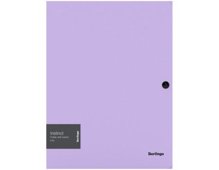 """Папка на кнопке Berlingo """"Instinct"""" А4, 600мкм, лаванда"""