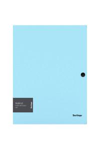 """Папка на кнопке Berlingo """"Instinct"""" А4, 600мкм, аквамарин, ANp_03510"""