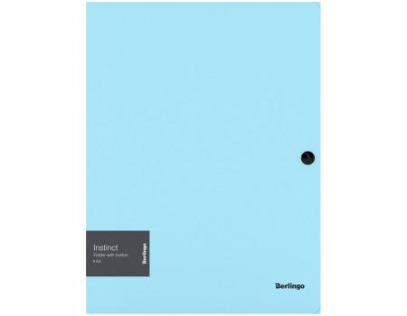 """Папка на кнопке Berlingo """"Instinct"""" А4, 600мкм, аквамарин"""