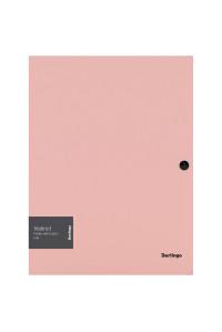 """Папка на кнопке Berlingo """"Instinct"""" А4, 600мкм, фламинго, ANp_03513"""
