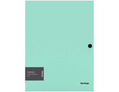 """Папка на кнопке Berlingo """"Instinct"""" А4, 600мкм, мятный"""