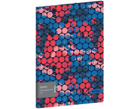 """Папка на резинке Berlingo """"Sparkle"""" А4, 600мкм, с рисунком"""