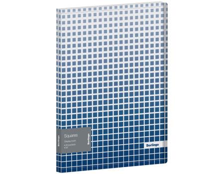"""Папка с 20 вкладышами Berlingo """"Squares"""", 17мм, 600мкм, с внутр. карманом, с рисунком"""