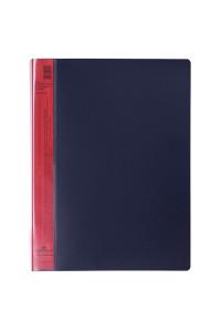 "Папка с 20 вкладышами Durable ""DuraLook Color"", 17мм, 700мкм, антрацит-красная, RU2422-03"
