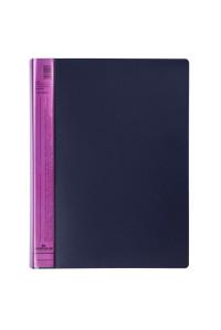 "Папка с 20 вкладышами Durable ""DuraLook Color"", 17мм, 700мкм, антрацит-розовая, RU2422-08"