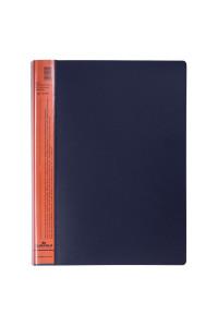 """Папка с 20 вкладышами Durable """"DuraLook Color"""", 17мм, 700мкм, антрацит-оранжевая, RU2422-09"""