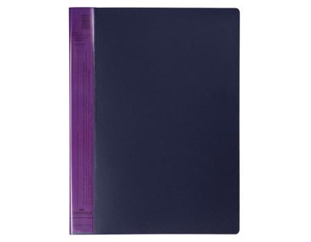 "Папка с 20 вкладышами Durable ""DuraLook Color"", 17мм, 700мкм, антрацит-фиолетовая"