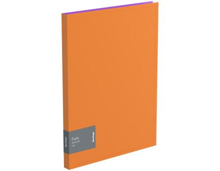"""Папка c пружинным скоросшивателем Berlingo """"Fuze"""", 17мм, 600мкм, оранжевая"""