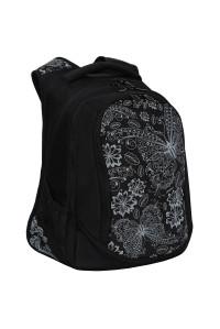 Рюкзак Grizzly, 29*40*19см, 3 отделения, 2 кармана, укреплённая спинка, чёрный, RD-141-1/2