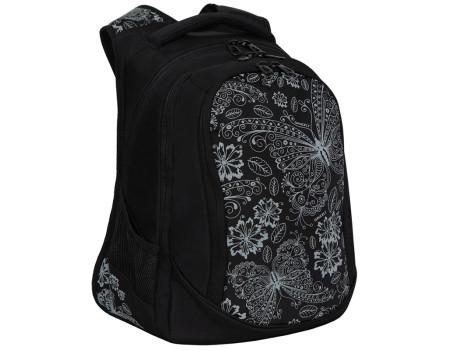 Рюкзак Grizzly, 29*40*19см, 3 отделения, 2 кармана, укреплённая спинка, чёрный