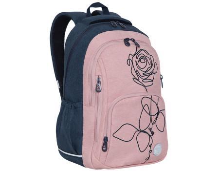 Рюкзак Grizzly, 29*42*20см, 2 отделения, 5 карманов, анатомическая спинка, тёмно-синий-розовый