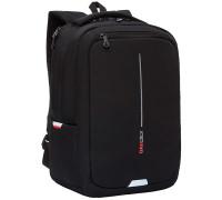 Рюкзак Grizzly, 29*41,5*18см, 1 отделение + отделение для ноутбука, 2 кармана, анатомическая спинка, чёрный-красный, RU-134-1/1