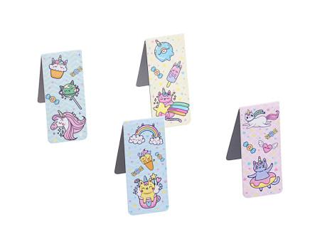 """Закладки магнитные для книг 25*58мм, 4шт., MESHU """"Unicorn"""""""
