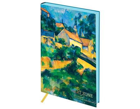 """Записная книжка А5 80л. ЛАЙТ, кожзам, Greenwich Line """"Vision. Cezanne. Turning Road"""""""