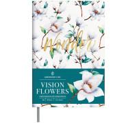 "Ежедневник недатир. B6, 136л., кожзам, Greenwich Line ""Vision.Flowers"", тон. блок, цв. срез, ENB6-18709"