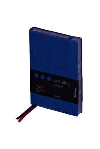 """Ежедневник недатир. B6, 160л., кожзам, Berlingo """"Spring"""", полноцветный срез, синий, UD0_88605"""
