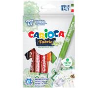 """Набор фломастеров для ткани Carioca """"Fabric Liner"""" 10цв., картон. уп., европодвес,  42909"""