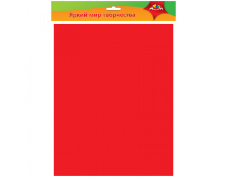 Фоамиран Апплика, 50*70см, красный, 0,7мм