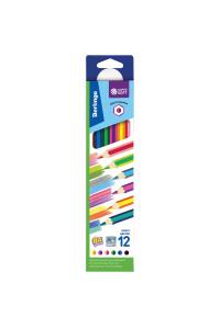 "Карандаши с двухцветным грифелем Berlingo ""SuperSoft. 2 in 1"", 06шт., 12цв., картон., европодвес, SS03912"