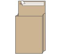 Пакет почтовый C4, UltraPac, 229*324*40мм, коричневый крафт, отр. лента, 130г/м2, 381227.25