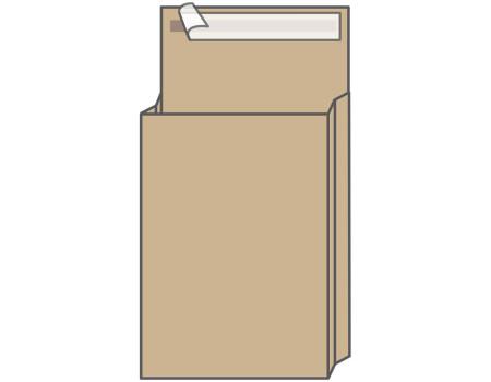 Пакет почтовый C4, UltraPac, 229*324*40мм, коричневый крафт, отр. лента, 130г/м2