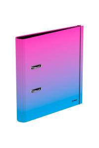 """Папка-регистратор Berlingo """"Radiance"""", 50мм, ламинированная, розовый/голубой градиент, AMl50401"""