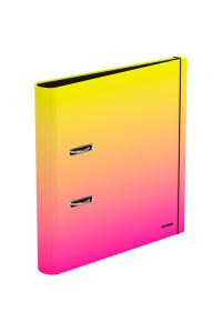 """Папка-регистратор Berlingo """"Radiance"""", 50мм, ламинированная, желтый/розовый градиент, AMl50403"""