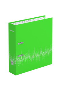 """Папка-регистратор Berlingo """"Neon"""", 70мм, ламинированная, неоновая зелёная, AMl70802"""