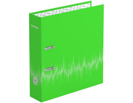 """Папка-регистратор Berlingo """"Neon"""", 70мм, ламинированная, неоновая зелёная"""